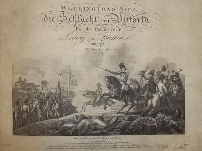 Wellington Sieg, [Victoire de Wellignton], transcription pour piano par Beethoven, Edition S.A Steiner, Vienne, 1815